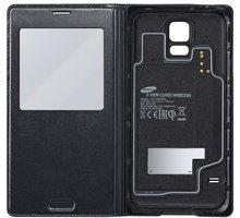 Samsung flipové pouzdro S-View EP-VG900B pro Galaxy S5, černá (bezdrátové nabíjení)
