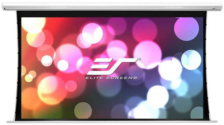 """Elite Screens plátno elektrické motorové 100"""" (254 cm)/ 16:9/124,5 x 221,5 cm/hliníkový case bílý"""