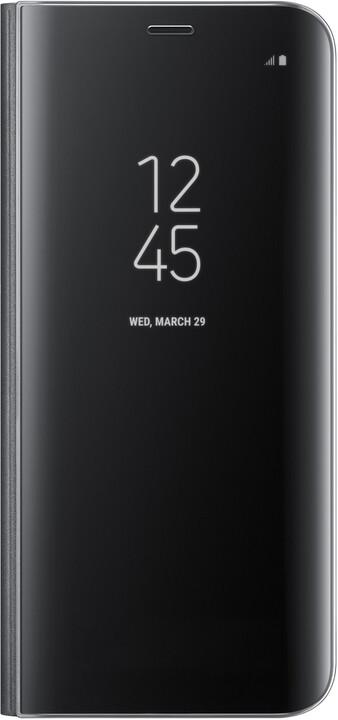 Samsung S8 Flipové pouzdro Clear View se stojánkem, černé
