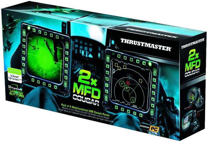 Thrustmaster navigační panely MFD Cougar Pack