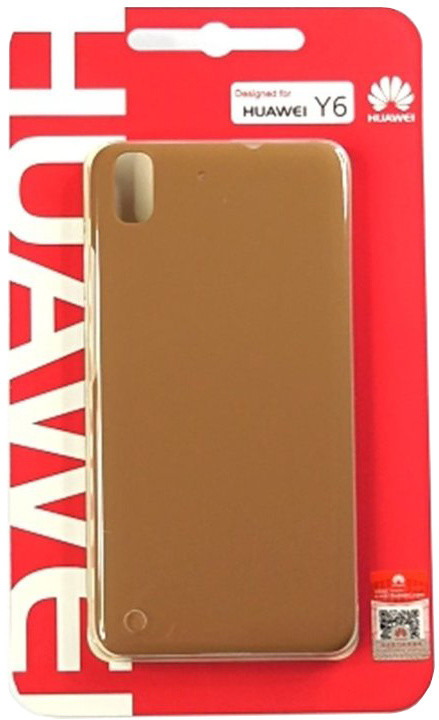 Huawei Original Protective Pouzdro 0.8mm Brown Ascend Y6 (EU Blister)