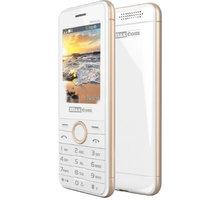Maxcom MM136, Dual Sim, bílá/zlatá - MM136WHGL