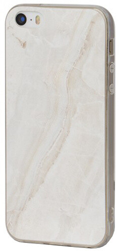 EPICO pružný plastový kryt pro iPhone 5/5S/SE MARBLE - bílý