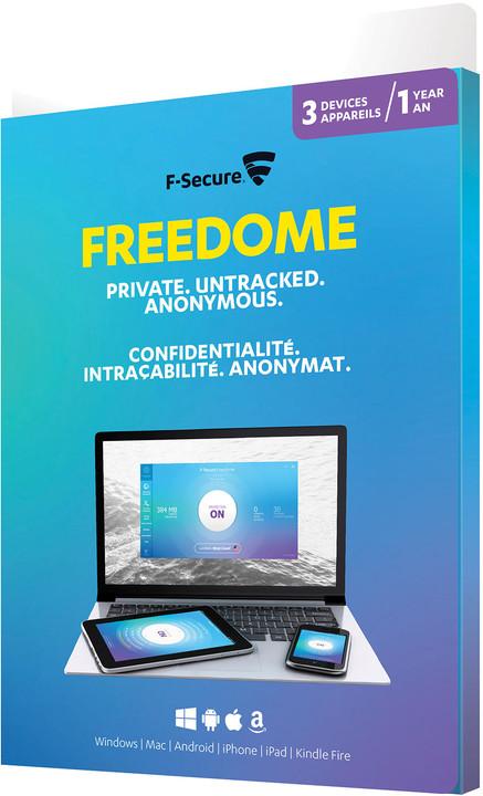 F-Secure Freedome VPN, 3 uživatelé (12 měs.) CZ