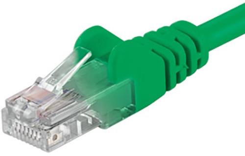UTP síťový kabel kat.6 PC-HUB - 0,25m, zelená