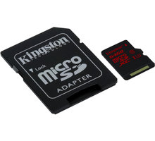 Kingston Micro SDXC 64GB Class 10 UHS-I U3 + SD adaptér - SDCA3/64GB