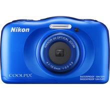 Nikon Coolpix W100, modrá + Backpack kit - VQA011K001