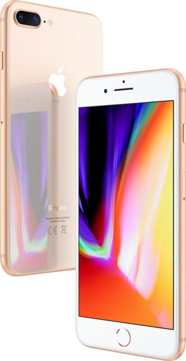Apple iPhone 8 Plus, 64GB, zlatá