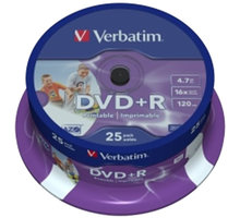 Verbatim DVD+R Printable (Inkjet) 16x 4,7GB spindl 25ks - 43539
