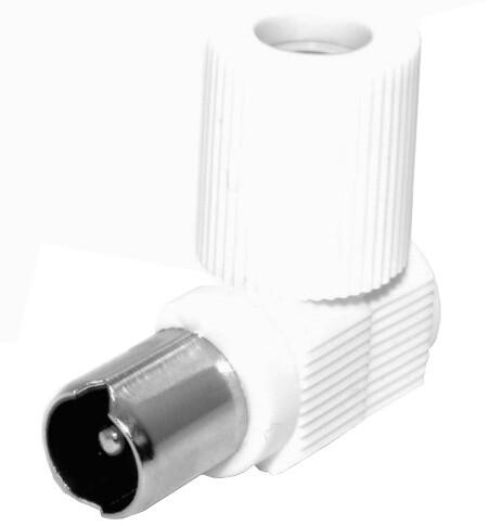 PremiumCord TV anténní konektor IEC úhlový-M, 75 Ohm