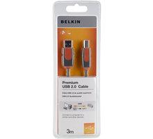 Belkin USB 2.0 kabel A-B, řada premium, 3 m - CU1000cp3M