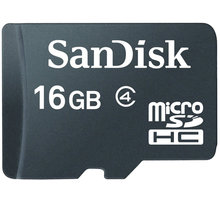 SanDisk Micro SDHC 16GB Class 4 + SD adaptér - SDSDQB-016G-B35