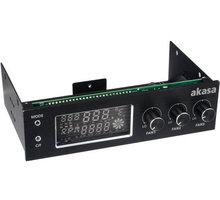 Akasa kontrolní panel AK-FC-07BK 3xfan, monitoring teploty, display, černý