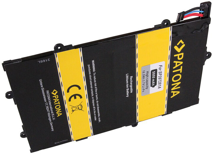 Patona baterie pro tablet PC Samsung Galaxy Tab 7.7 5000mAh 3,7V Li-Pol + nářadí