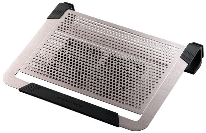 """CoolerMaster NotePal U2 PLUS pro NTB 12-17"""" titanium, 2x8cm fan"""