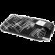 RedPoint Velvet pouzdro, mikroplyš, motiv White Stripes, velikost 4XL