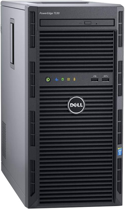 Dell PowerEdge T130 TW /E3-1220v5/8G/2x1TB SAS/H330/2xGLAN/bezOS