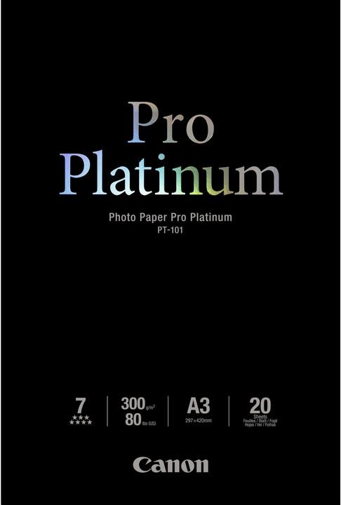 Canon Foto papír Pro Platinum PT-101, A3, 20 ks, 300g/m2, lesklý