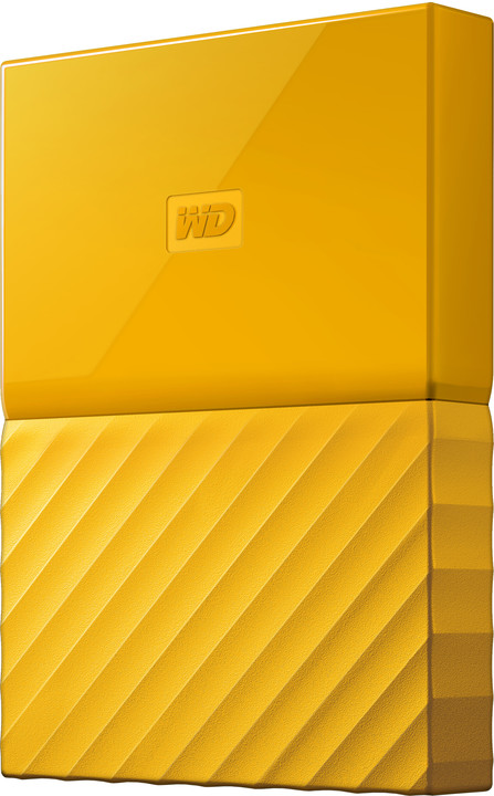 WD My Passport - 4TB, žlutá