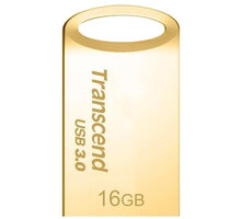 Transcend JetFlash 710 16GB, zlatá - TS16GJF710G