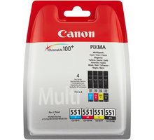 Canon CLI-521 C/M/Y/BK Photo Value pack + 4x6 Photo Paper (PP-201 50sheets) - 2933B010