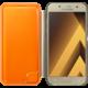 Samsung Galaxy A3 2017 (SM-A320P), flipové pouzdro, zlaté