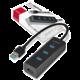 AXAGON 4x USB3.0 CHARGING hub, microUSB nap.