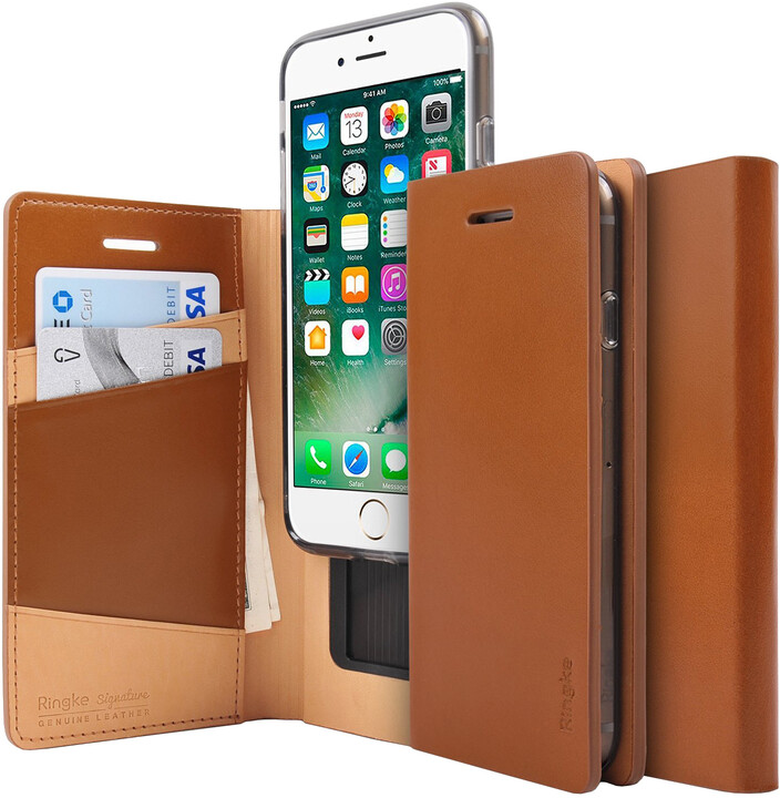 Ringke Signature case pro iPhone 7, brown