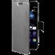 CELLY Air ultra tenké pouzdro typu kniha pro Huawei P10, PU kůže, stříbrné