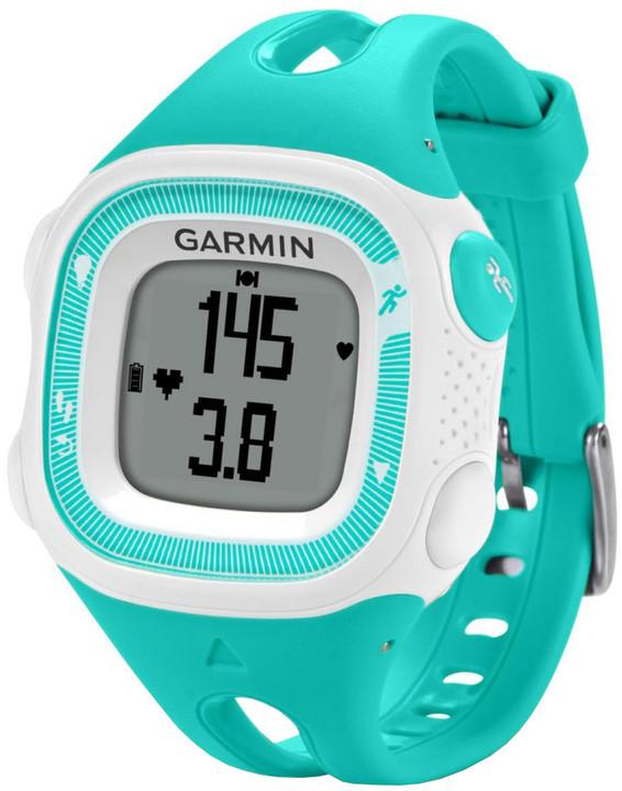 GARMIN Forerunner 15 HR, S, zelená/bílá