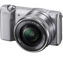 Sony Alpha 5000, stříbrná + objektiv 16-50mm - ILCE5000LS.CEC