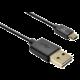 FIXED oboustranný datový kabel TO microUSB s konektorem microUSB, 1m, černý