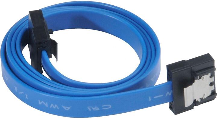 Akasa SATA 3.0, super tenký, 30cm, modrá