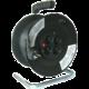 Prodlužovací kabel 230V 50m - 4x zásuvka, černý, na bubnu