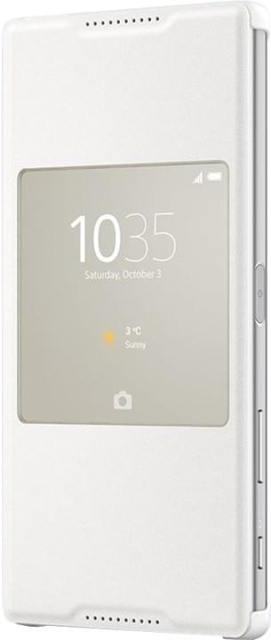 Sony flipový kryt SCR46 Smart Cover pro Sony Xperia Z5 Premium, bílá