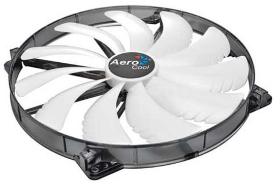 AeroCool Silent Master, 200 mm, bílá