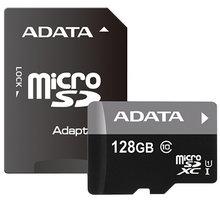 ADATA Micro SDXC Premier 128GB UHS-I + SD adaptér - AUSDX128GUICL10 85-RA1