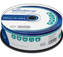 MediaRange DVD+R 8,5GB DL 8x, 25ks Spindle - MR469