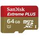 SanDisk Micro SDXC Extreme Plus 64GB 95MB/s UHS-I U3 + SD adaptér