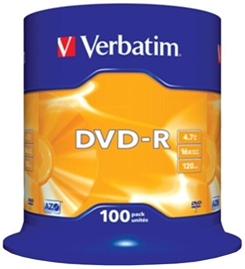 Verbatim DVD-R 16x 4,7GB spindl 100ks