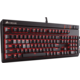Corsair Gaming STRAFE RED LED + Cherry MX BLUE, EU