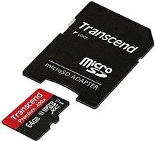 Transcend Micro SDXC Premium 400x 64GB 60MB/s UHS-I + SD adaptér - TS64GUSDU1
