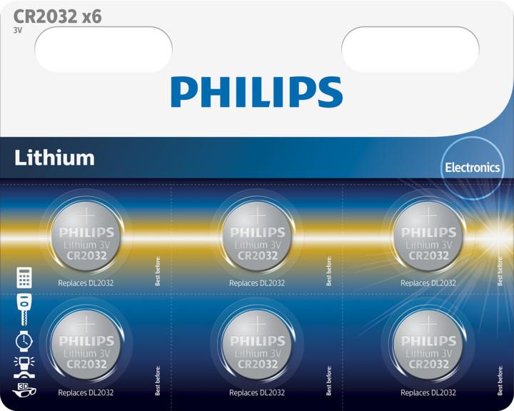Philips CR2032 - 6ks