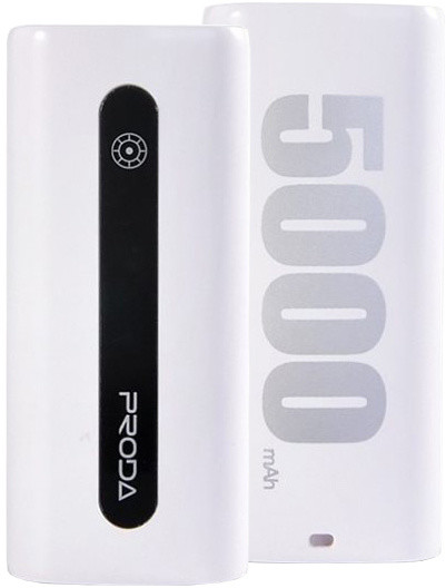 Remax Proda E5, 5000 mAh, bílá