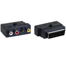 AQ přechodka SCART - 3x RCA (cinch) AV + S-video - vstup/výstup - xkv201