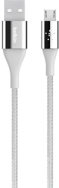 Belkin kabel Premium Kevlar USB-A 2.0 /microUSB, 1,2m - stříbrný