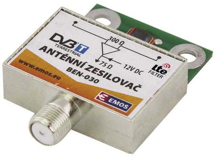 Emos anténní předzesilovač 30dB VHF/UHF
