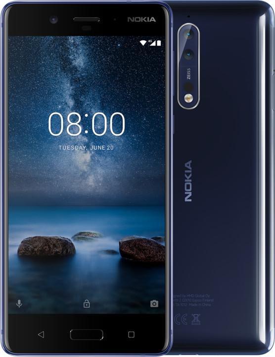 Nokia 8,lesklá modrá
