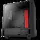 NZXT S340 Elite, okno, matná černo/červená