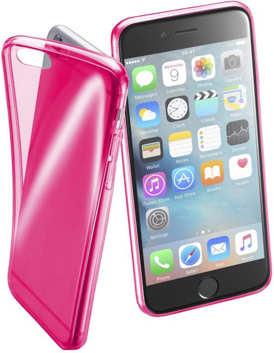 Cellularline FLUO barevné gelové pouzdro pro Apple iPhone 6/6S, růžové